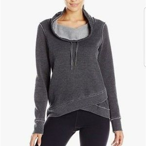 Calvin Klein grey waffle cowl neck sweater